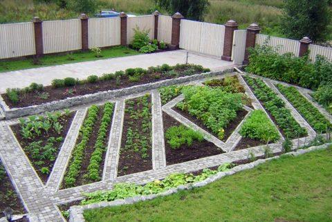Огород или сад можно выделить в отдельную зону
