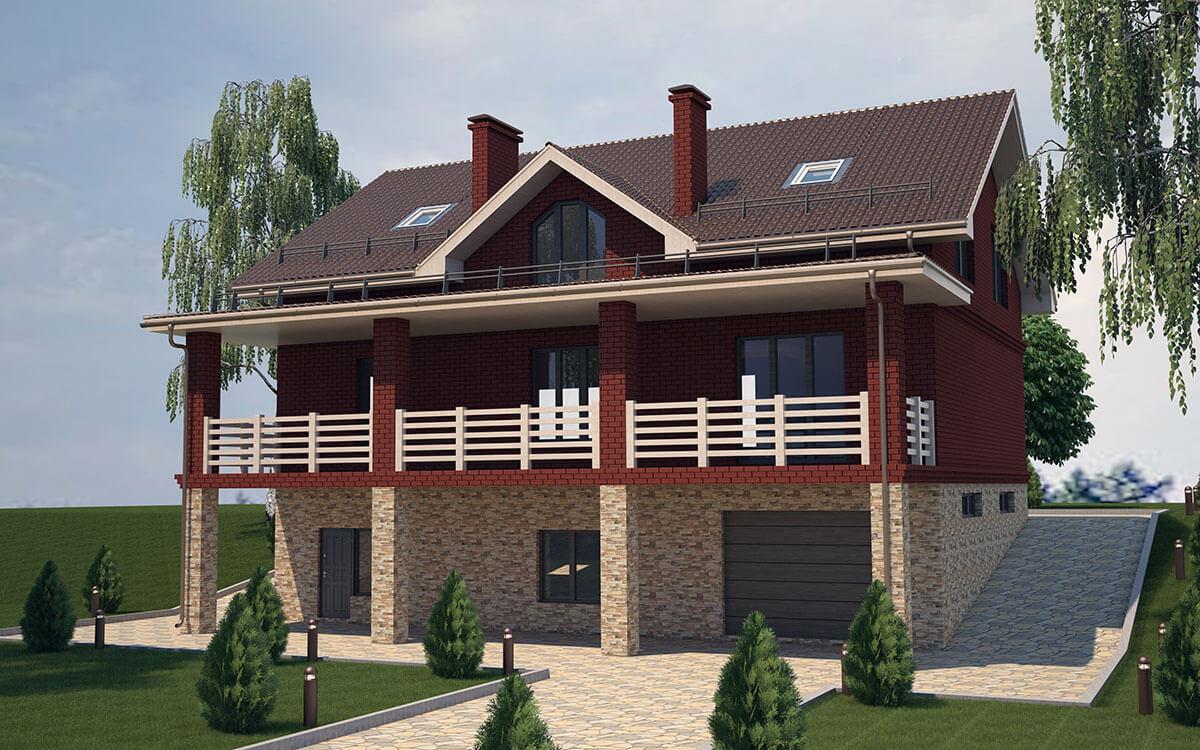 Загородные дома, коттеджи - Проекты - Аrchitect4U
