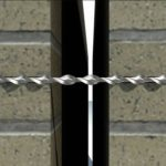 Соединение кирпичной кладки при помощи спиралевидных связей