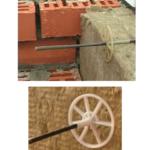 Установка композитных гибких связей позволяет обеспечить воздушный зазор в кирпичной кладке