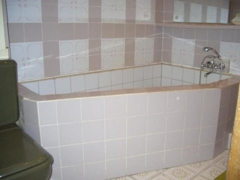 Компактная самодельная ванна