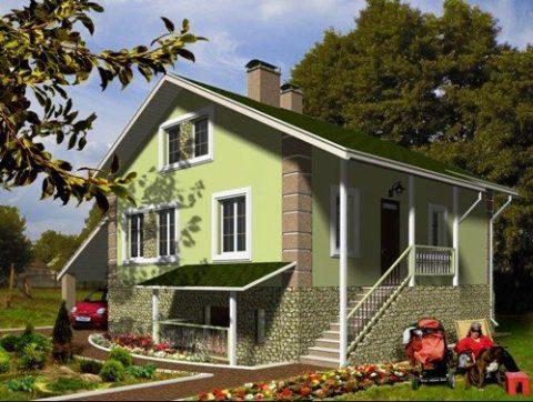 Красивый и практичный дом с подвалом