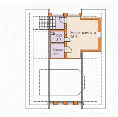 Мансардный этаж – планировка помещений
