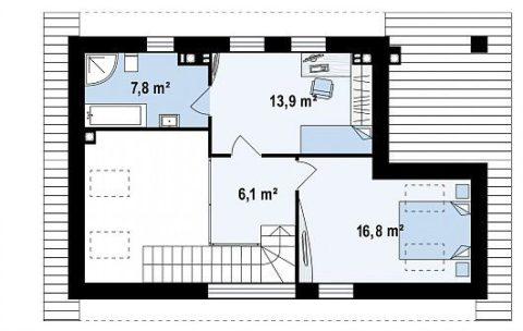 Планировка мансардного этажа