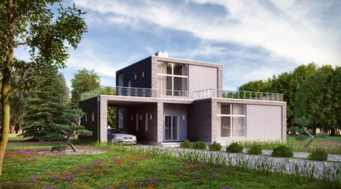 Современный дом из кирпича – стильно, удобно, практично