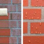 Гидрофобизирующая пропитка не дает влаге проникать внутрь кирпича - фото