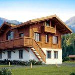 Комбинированный коттедж в баварском стиле