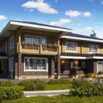 Проекты домов комбинированных из бруса и кирпича – чем они привлекательны для частного строительства?