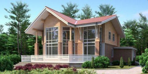 Красивый дом из комбинированных материалов