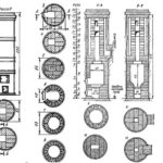 Круглая кирпичная печь-«голландка» - схема устройства