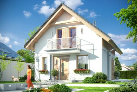 Отличный проект дома из кирпича 6 х 6 м