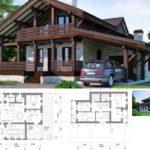 Проекты комбинированных домов из бруса и кирпича довольно востребованы