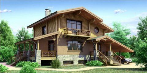 Проекты загородных домов из кирпича и бруса отличаются большим разнообразием