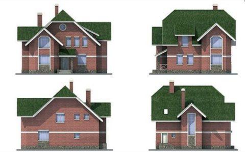 Вид дома в различных проекциях
