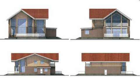 Виды фасадов дома