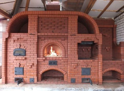 Красивая и качественная печь – кирпич lode красный
