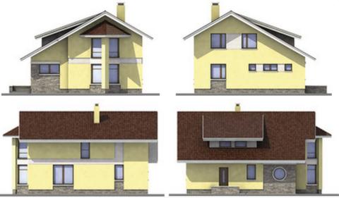 Виды фасадов здания