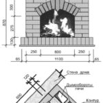 Чертеж-инструкция углового камина-печи