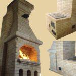 Двусторонняя печь с камином – фото