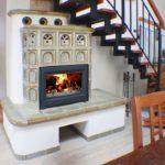 Кирпичная печь-камин с воздушным отопительным контуром