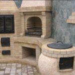 Комбинированное сооружение с духовым отделением и тандыром