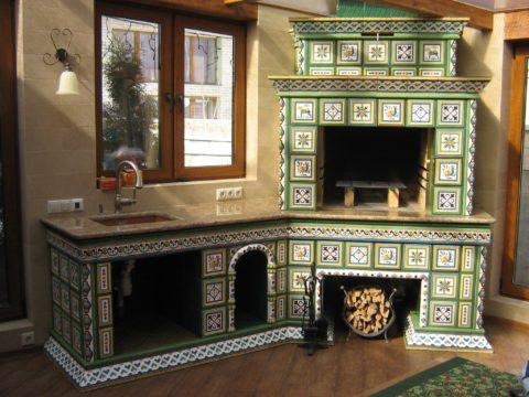 Украшением любого дома станет камин-печь с красивой облицовкой