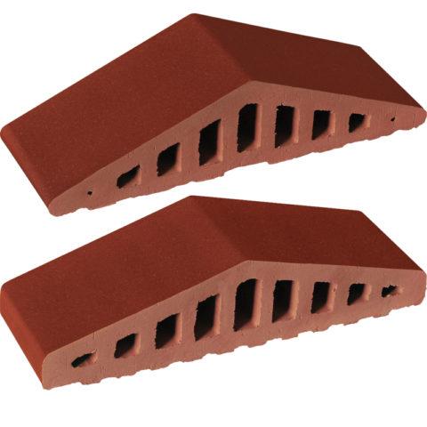 Ангобированный фасонный кирпич для устройства колпаков на заборные столбы