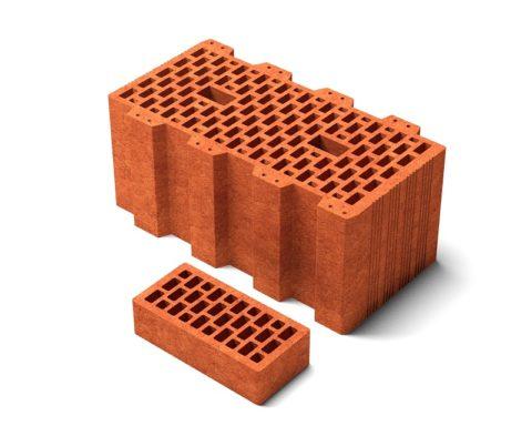 Сравнение размеров одинарного кирпича и керамического блока