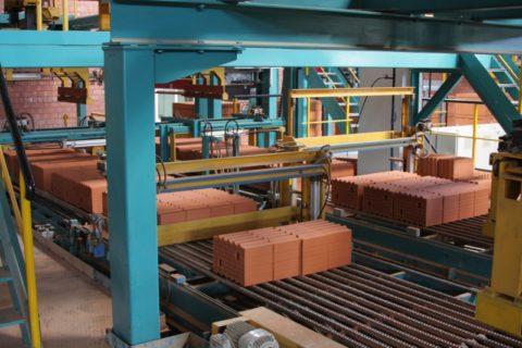 Готовая продукция на заводе Винербергер