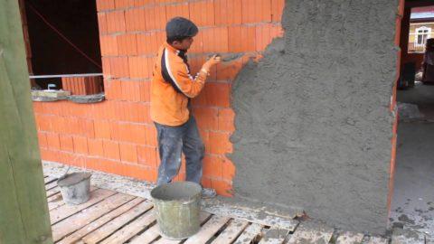 Отделка строения из поризованных блоков Поротерм штукатуркой
