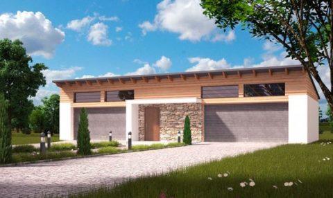 Гараж и хозблок – проекты из кирпича для загородного дома