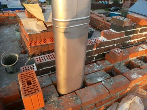 Металлический вкладыш для кирпичного дымохода