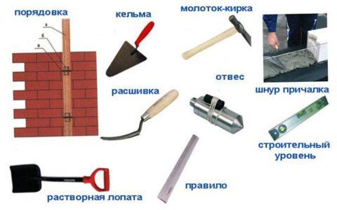 Необходимый для кладки инструмент