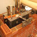Как кирпичом обложить металлическую печь в бане