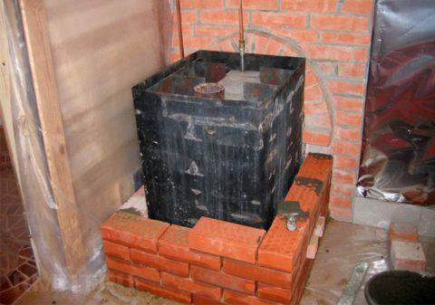 Самодельные буржуйки из черного металла особенно нуждаются в отделке