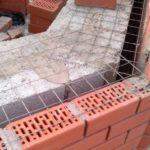 Неутепляемый вентфасад для керамзитобетонных стен с перевязкой сеткой