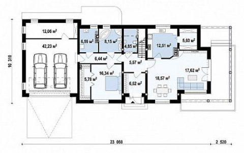 Первый этаж – планировка помещений