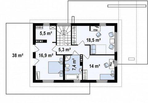 План-схема второго этажа