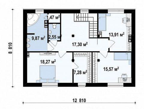 Второй этаж – планировка помещений