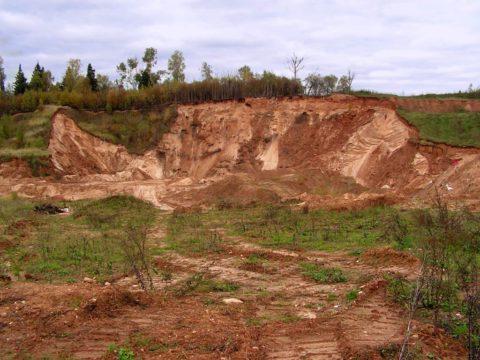 Глиняное месторождение