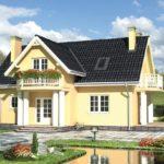 Оштукатуренный дом в классическом стиле