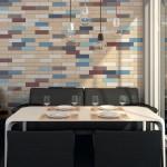 Плитка с пропорциями кирпича в дизайне кухни
