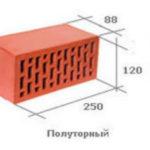 Стандартные размеры керамического кирпича