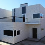 Фасад из силикатного кирпича