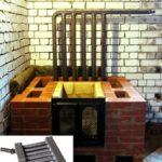 Кирпичная печь-камин с водяным контуром